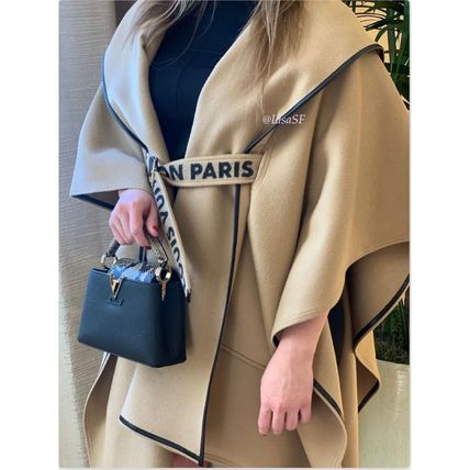 Louis Vuitton Hooded Cape Coat With Belt