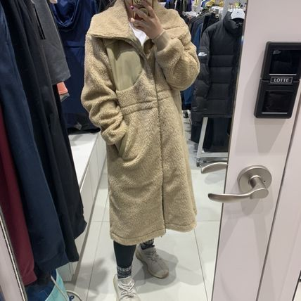 THE NORTH FACE WHITE LABEL Casual Style Plain Long Shearling Logo Jackets