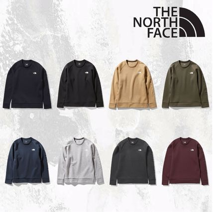 THE NORTH FACE Sweatshirts Unisex Long Sleeves Plain Logo Outdoor Sweatshirts