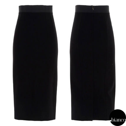 Dolce & Gabbana Pencil Skirts Plain Long Office Style Elegant Style