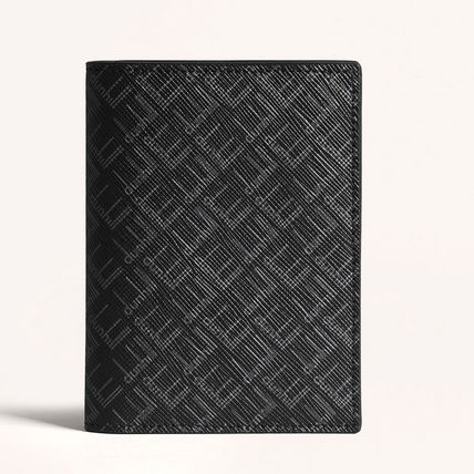 Dunhill Card Holders Collaboration Plain Leather Folding Wallet Card Holders