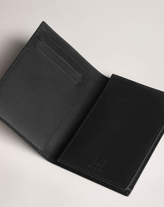 Dunhill Card Holders Collaboration Plain Leather Folding Wallet Card Holders 3