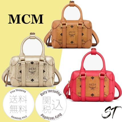 Logo Casual Style Monogram Leather Street Style Party Style