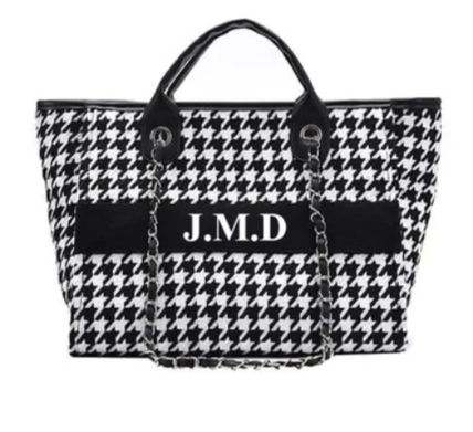 Zigzag Casual Style Office Style Totes