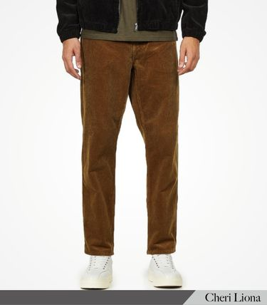 Carhartt Logo Tapered Pants Corduroy Plain Street Style Tapered Pants