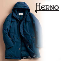 HERNO Nylon Plain Front Button Down Jackets