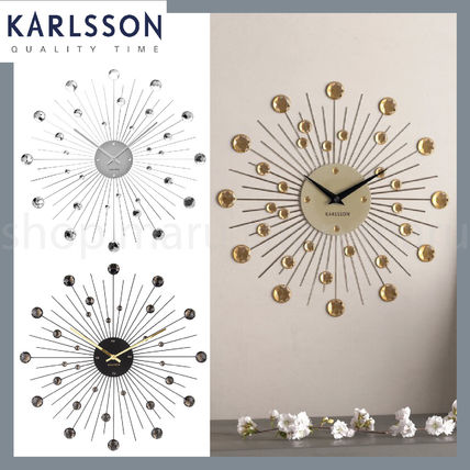 KARLSSON With Jewels Metallic Clocks