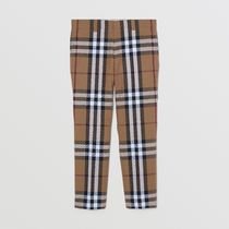 Burberry Gingham Wool Cropped Pants