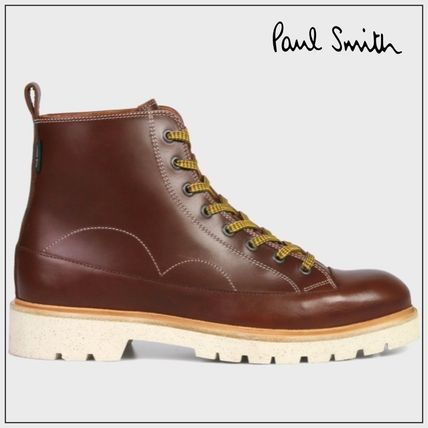 Paul Smith Plain Leather Engineer Boots