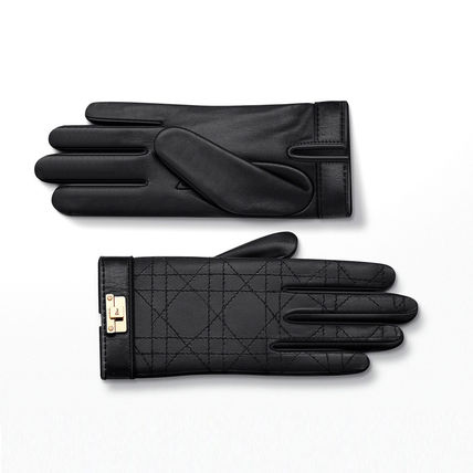 Christian Dior Silk Plain Gloves Gloves