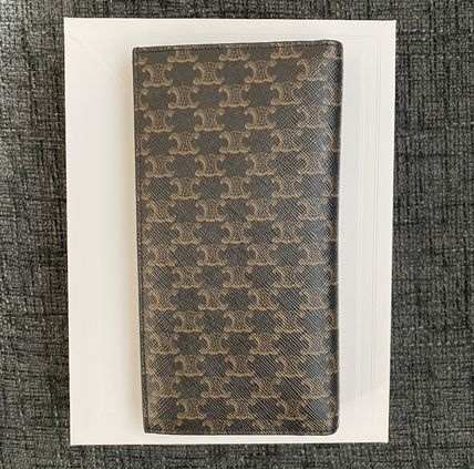 CELINE Triomphe Vertical Wallet With Coin In Triomphe Canvas