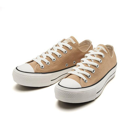 CONVERSE ALL STAR Star Platform Rubber Sole Casual Style Street Style Plain