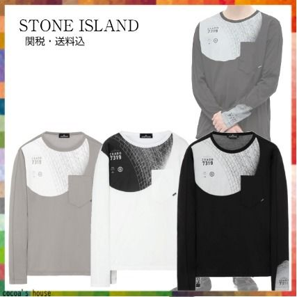 STONE ISLAND Long Sleeve Crew Neck Pullovers Long Sleeves Cotton Long Sleeve T-shirt