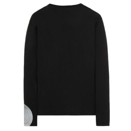 STONE ISLAND Long Sleeve Crew Neck Pullovers Long Sleeves Cotton Long Sleeve T-shirt 3