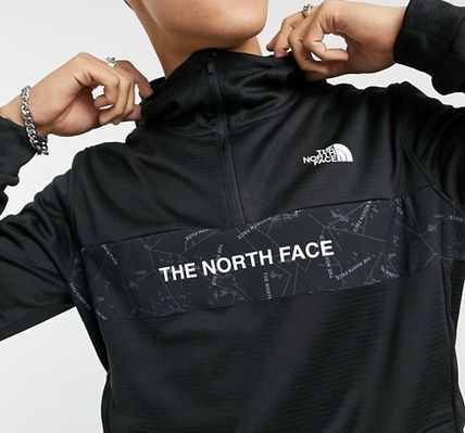 THE NORTH FACE Hoodies Pullovers Street Style Bi-color Long Sleeves Logo Outdoor 3
