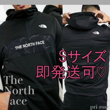 THE NORTH FACE Hoodies Pullovers Street Style Bi-color Long Sleeves Logo Outdoor