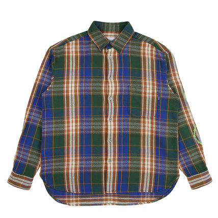 AWAKE NY Button-down Other Plaid Patterns Street Style Long Sleeves