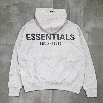 FEAR OF GOD ESSENTIALS Street Style Long Sleeves Cotton Logo Hoodies