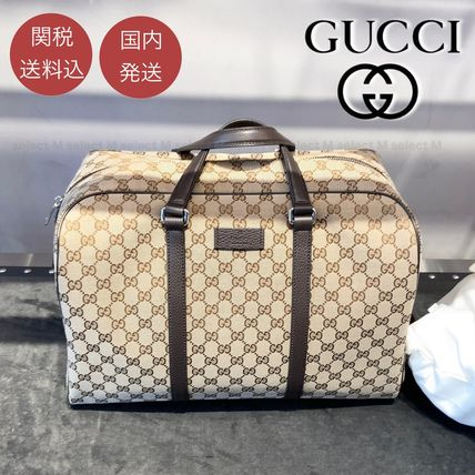 GUCCI Monogram Unisex Canvas 2WAY Leather Crossbody