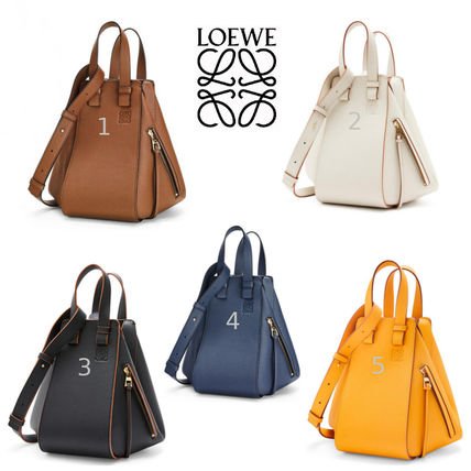 LOEWE Small Hammock Bag In Pebble Grain Calfskin
