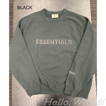 FEAR OF GOD ESSENTIALS Crew Neck Unisex Blended Fabrics Street Style Long Sleeves