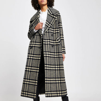 River Island Other Plaid Patterns Casual Style Long Coats