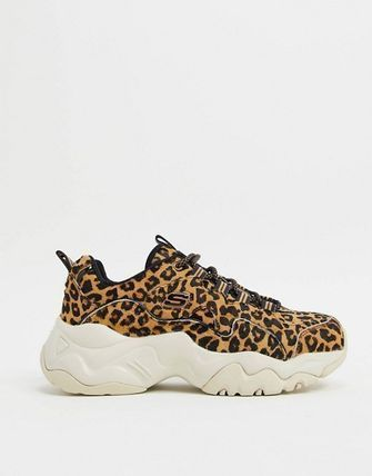 Leopard Patterns Casual Style Low-Top Sneakers