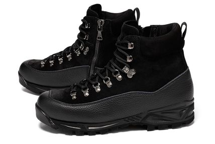 Mountain Boots Suede Studded Street Style Plain Leather