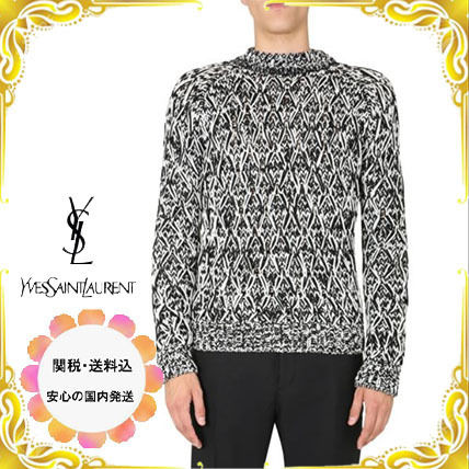 Saint Laurent Sweaters Unisex Street Style Luxury Sweaters