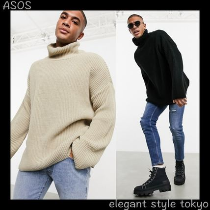 ASOS Sweaters Pullovers Street Style Long Sleeves Plain Oversized Sweaters