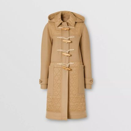 Burberry Casual Style Wool Plain Long Elegant Style Formal Style
