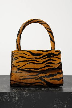 Casual Style Calfskin Vanity Bags 2WAY Other Animal Patterns