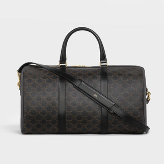 CELINE Triomphe Medium Travel Bag In Triomphe Canvas And Calfskin