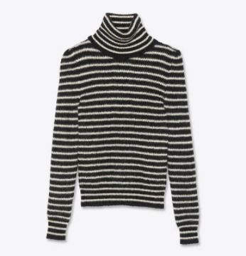 Saint Laurent Sweaters Pullovers Stripes Wool Nylon Street Style Bi-color 2