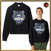 KENZO Sweatshirts Crew Neck Long Sleeves Plain Other Animal Patterns Cotton 7
