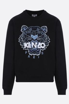 KENZO Crew Neck Long Sleeves Plain Other Animal Patterns Cotton