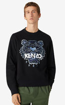 KENZO Sweatshirts Crew Neck Long Sleeves Plain Other Animal Patterns Cotton 6