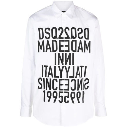 D SQUARED2 Shirts Button-down Street Style Long Sleeves Cotton Logo Luxury 2