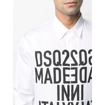 D SQUARED2 Shirts Button-down Street Style Long Sleeves Cotton Logo Luxury 7