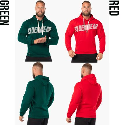 RYDERWEAR Hoodies Street Style Cotton Logo Hoodies