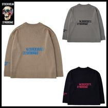 STOCKHOLM SYNDROME Street Style Long Sleeves Logo Sweaters