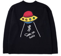 STOCKHOLM SYNDROME Sweaters Street Style Long Sleeves Logo Sweaters 4