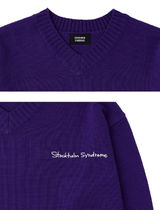STOCKHOLM SYNDROME Sweaters Street Style Long Sleeves Logo Sweaters 7
