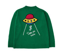 STOCKHOLM SYNDROME Sweaters Street Style Long Sleeves Logo Sweaters 10