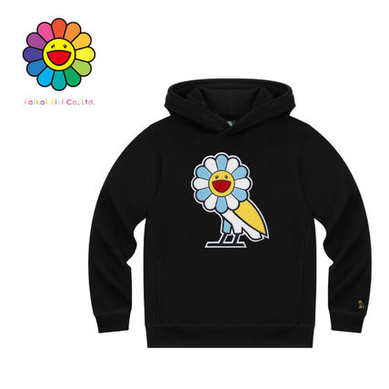Hoodies Unisex Street Style Collaboration Plain Logo Hoodies