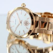Tory Burch Casual Style Round Party Style Quartz Watches Stainless