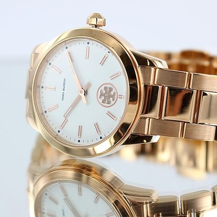 Tory Burch Round Formal Style  Casual Style Party Style Quartz Watches