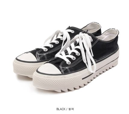 OPEN THE DOOR Unisex Street Style Plain Sneakers