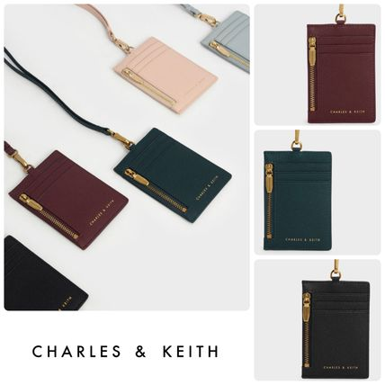 Charles&Keith Faux Fur Plain Card Holders