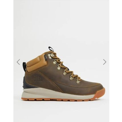 THE NORTH FACE Mountain Boots Street Style Bi-color Plain Leather U Tips